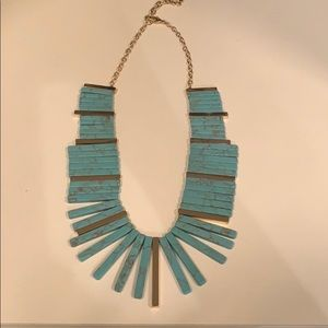 Baublebar Turquoise & Gold Necklace